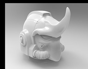 3D printable model sci-fi rhino space helmet