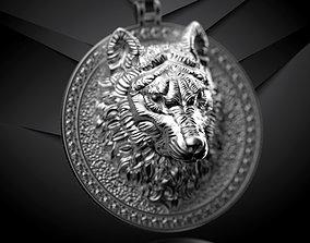 3D print model pendant wolf