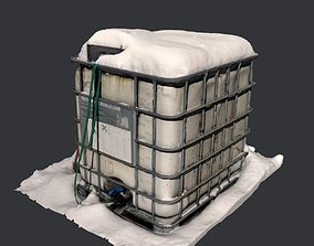 Chemical Tank Scan -- Mid poly 3D asset