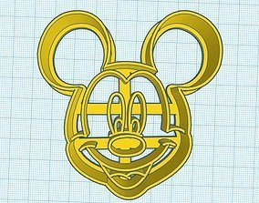 3D print model Mickey Mouse Face Cookie Cutter