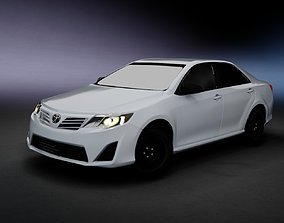 Toyota Camry 2012 with interior 3D model game-ready