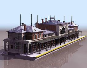 train railway station 3D model