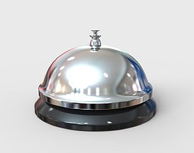 Hotel Reception Desk Bell 3D