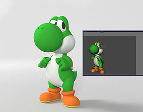 3D model YOSHI - RIGGED - READY FOR ANY GAME OR FOR A