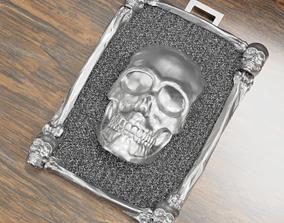 Skull Pendant 3D print model silver bone