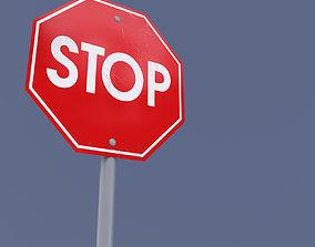 Sign Stop Max2011 3D