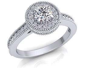 printable Halo Diamond Ring 3D printable model
