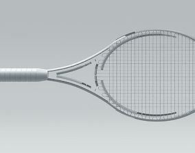 Tennis Racquet Architectural Space 3D model