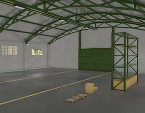 Warehouse storage 3D asset low-poly