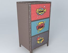 COMICS storage cabinet houses the world 3D