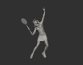 Tennis Player Pose 3d Printing 3D model