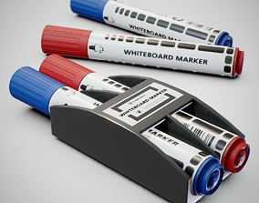 3D asset Whiteboard Markers - Generic 01