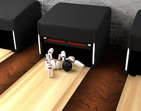3D Bowling scene Fully Textured Animated