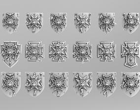Legion Templar Power Shields 3D print model