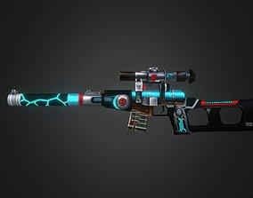game-ready Vss-katana-fal-cannon Gun-weapon model