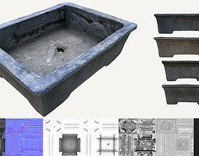 3D model Cement Bonsai Pot