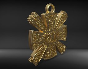 Slavic pagan cross 3D printable model