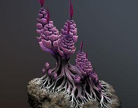 3D model realtime Alien plant Succulent Type 1
