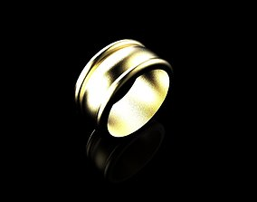 Minimal Style Band Ring of Gold 14K 3D printable model