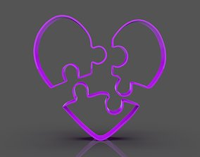 Puzzle Heart Cookie Cutter 3D print model