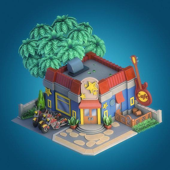 Cartoon cafe