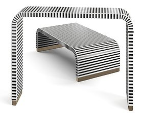 3D black and white table