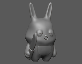 3D print model Bad rabbit with a knife