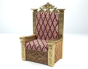 King Throne 7 3D model