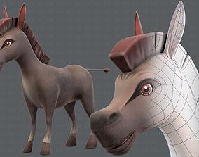 Donkey V01 3D asset low-poly