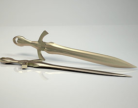3D printable model Medieval used sword