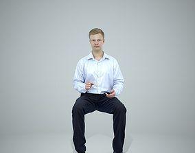 Blonde Business Man Sitting BMan0304-HD2-O02P01-S 3D model