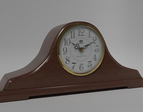 Antique Mantle Clock 3D