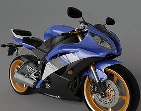 Yamaha r6 3D model bike