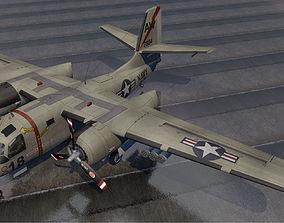 3D model Grumman S2F-1 Tracker
