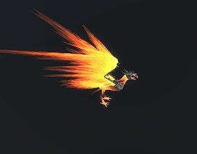 Fire Bird Phoenix 3D asset