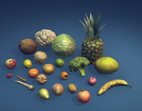 Photorealistic fruits and vegetables 3D model