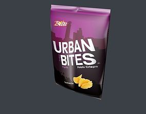 3D Potato chips bag