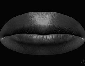 Realistic Lips Male 3D model