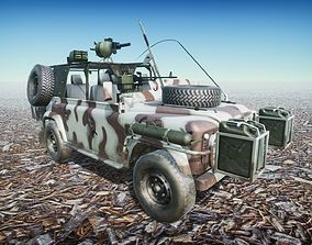 Offroad Long distance 4x4 Military 3D asset low-poly