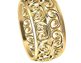 Wedding Ring gold weddingring 3D print model