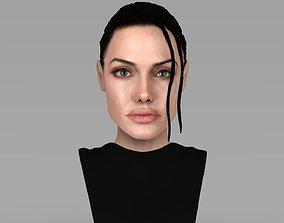 Lara Croft Angelina Jolie bust ready for full color 3D 1