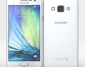 Samsung Galaxy A3 and A3 Duos White 3D