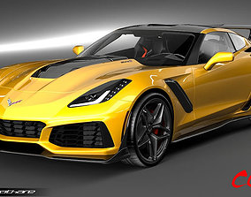 3D Chevrolet CorvetteZR1 2019
