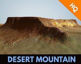 3D model Desert Mountain Terrain Landscape Environment 1