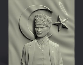 3D printable model Gazi Mustafa Kemal Ataturk and Turkish