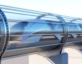 Hyperloop transport 3d model - Vray realistic