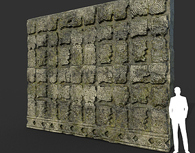 3D model Low poly Mayan Inca Ruin Temple Modular 10-5k