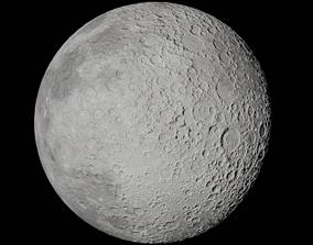 Moon 3d model satellite