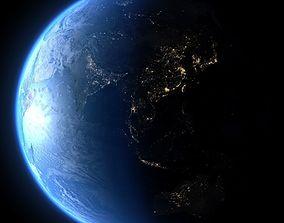 Earth in February 3D model