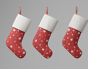 Christmas socks 3D asset